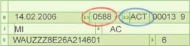 KBA Nummern im Fahrzeugschein