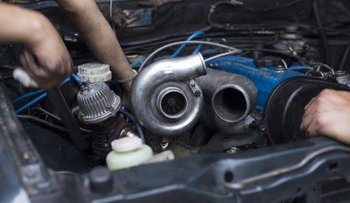 Turbolader eingebaut